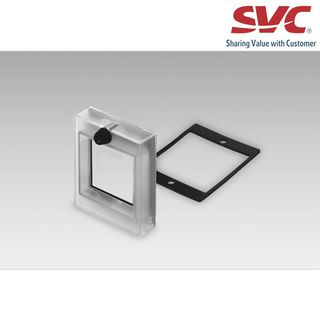 Adapter and front plate - Front panel with knob lock provided on transparent cover (Z102050)