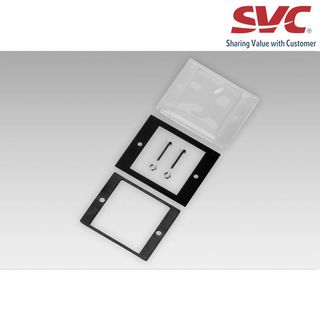 Adapter and front plate - Front panel with transparent protective cover, for socket box 50 x 50 mm (Z10002A)