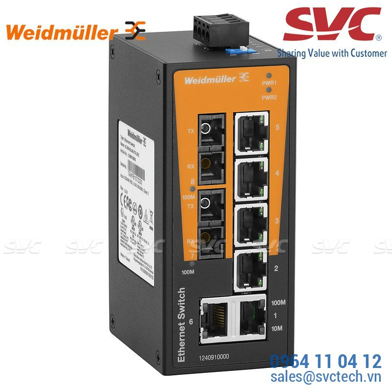 Bộ chia mạng Unmanaged Switch - IE-SW-BL08T-6TX-2SC