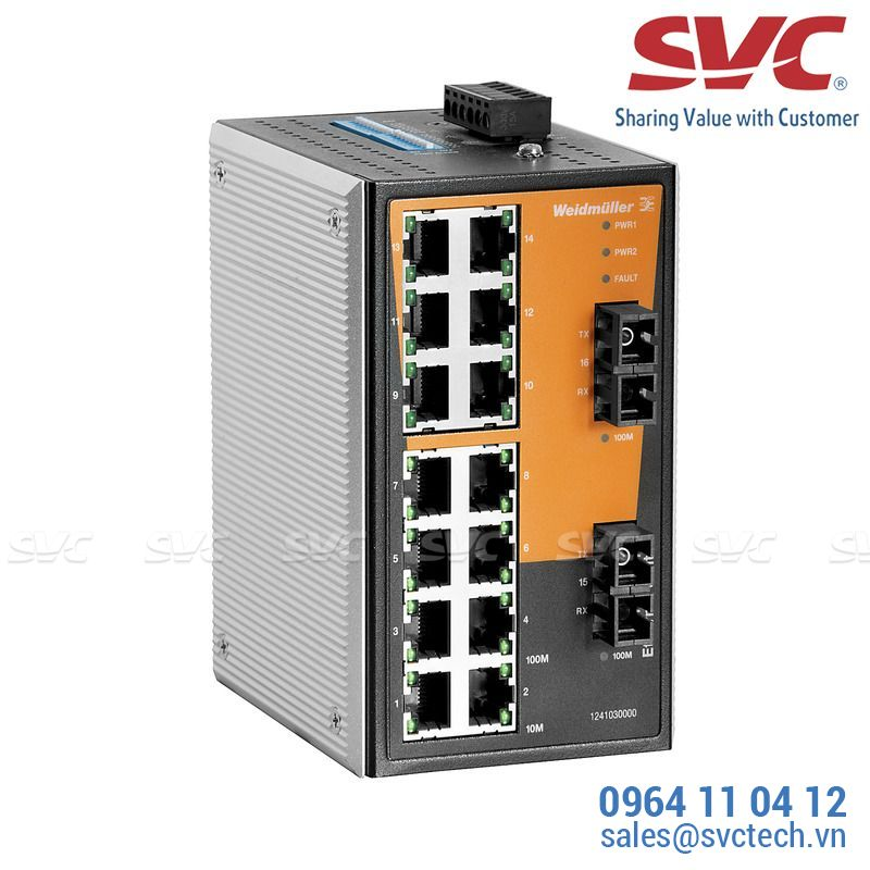 Bộ chia mạng Unmanaged Switch - IE-SW-VL16T-14TX-2SC