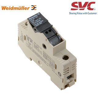 Cầu đấu dây Domino dạng bắt vít kèm cầu chì - WSI 25/2 10X38/LED