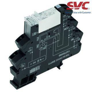 PLC Relay (Rơ le mỏng) kết nối dạng kẹp - TRZ 230VUC 1CO 16A