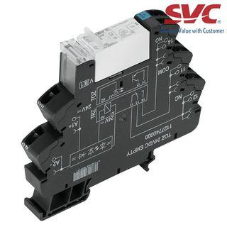 PLC Relay (Rơ le mỏng) kết nối dạng kẹp - TRZ 230VAC RC 1CO 16A