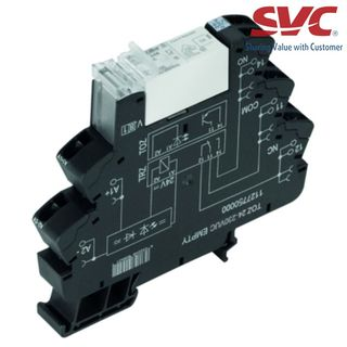PLC Relay (Rơ le mỏng) kết nối dạng kẹp - TRZ 24-230VUC 1CO 16A