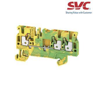 Cầu đấu dây domino nối đất dạng cắm - A3C 25 PE