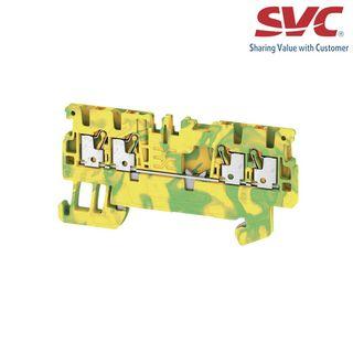 Cầu đấu dây domino nối đất dạng cắm - A4C 15 PE