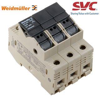 Cầu đấu dây Domino dạng bắt vít kèm cầu chì - WSI 25/3 10x38