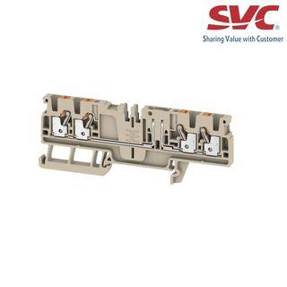 Cầu đấu dây domino dạng cắm có dao cách ly - ADT 25 4C W/O DTLV