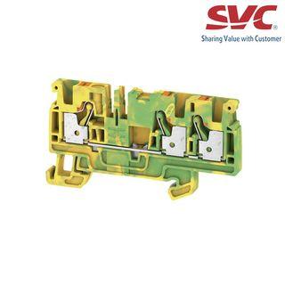 Cầu đấu dây domino nối đất dạng cắm - A3C 4 PE