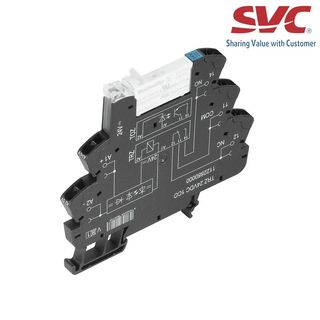 PLC Relay (Rơ le mỏng) kết nối dạng kẹp - TRZ 12VDC 1CO AGSNO