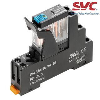 Relay (Rơ le) 8 chân 2CO D-Series trọn bộ kết nối vặn vít - DRIKIT 24VDC 2CO LD/PB