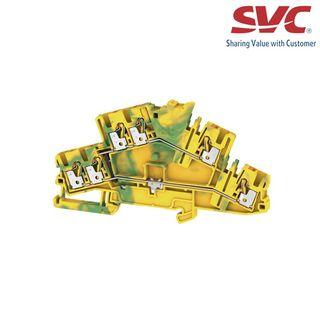 Cầu đấu dây domino nối đất dạng cắm - A2T 25 3C PE