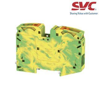 Cầu đấu dây domino nối đất dạng cắm - A2C 35 PE