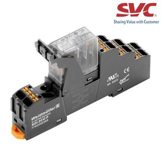 Relay (Rơ le) 8 chân 2CO D-Series trọn bộ kết nối dạng cắm - DRIKITP 24VAC 2CO LD