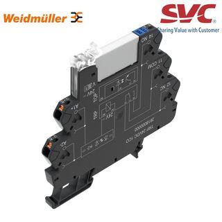 PLC Relay (Rơ le mỏng) kết nối dạng cắm - TRP 12VDC 1CO AGSNO