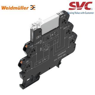 PLC Relay (Rơ le mỏng) kết nối dạng cắm - TRP 120VUC 1CO AGSNO