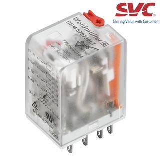 Relay (Rơ le) 8 chân 2CO D-Series có đèn LED và nút test - DRM270615LT