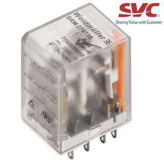 Relay (Rơ le) 8 chân 2CO D-Series có đèn LED và diode - DRM270024LD