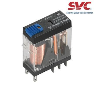 Relay (Rơ le) 8 chân 2CO D-Series có đèn LED, diode và nút test - DRI424048LTD