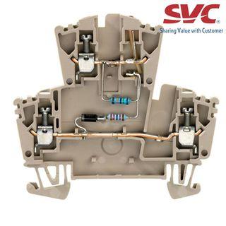 Cầu đấu dây Domino dạng bắt vít - WDK 25 LD 1D 2R 115VAC